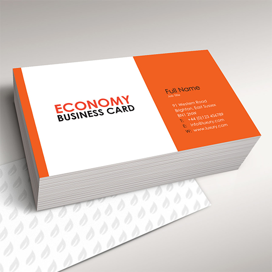 Vue Prints   Economy Business card